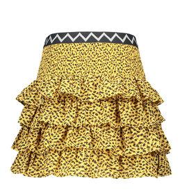 Like Flo Clay Paisley Ruffle Skirt