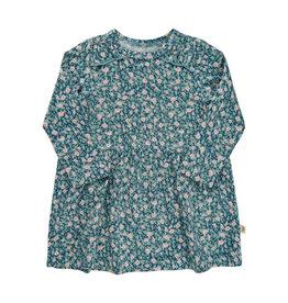 Minymo Green Rayon Knit Floral Print