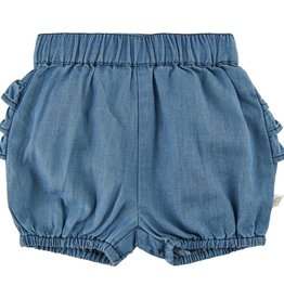Minymo Ltblue Denim Bloomer with Ruffles