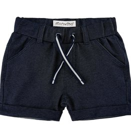 Minymo Navy Knit Drawstring Short
