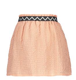 Like Flo Peach Seersucker Rayon Skirt