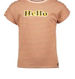 Like Flo Clay Pink Stripe tee Hello Screen