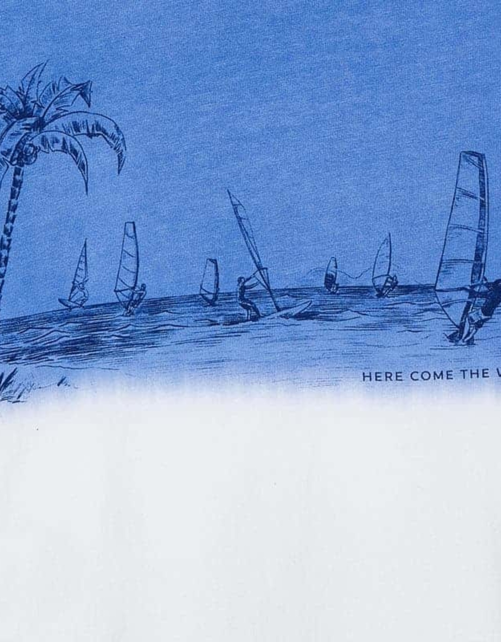 Mayoral Tee Blue Ombre Sailboat