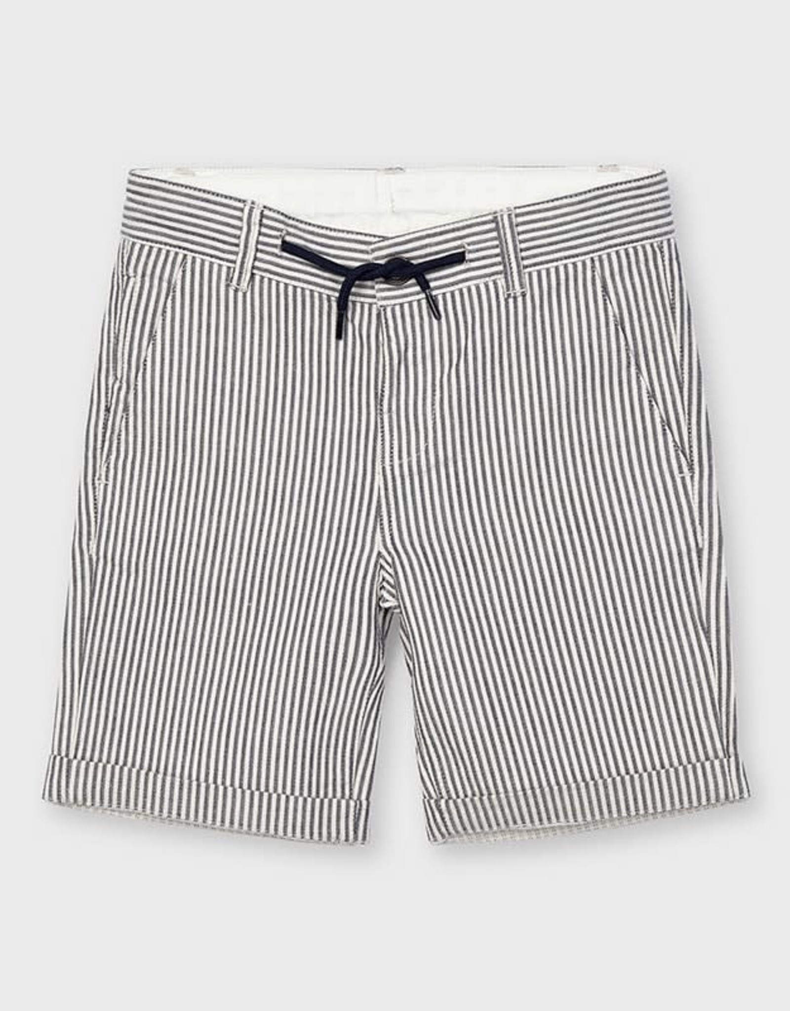 Mayoral Short Navy Oxford stripe