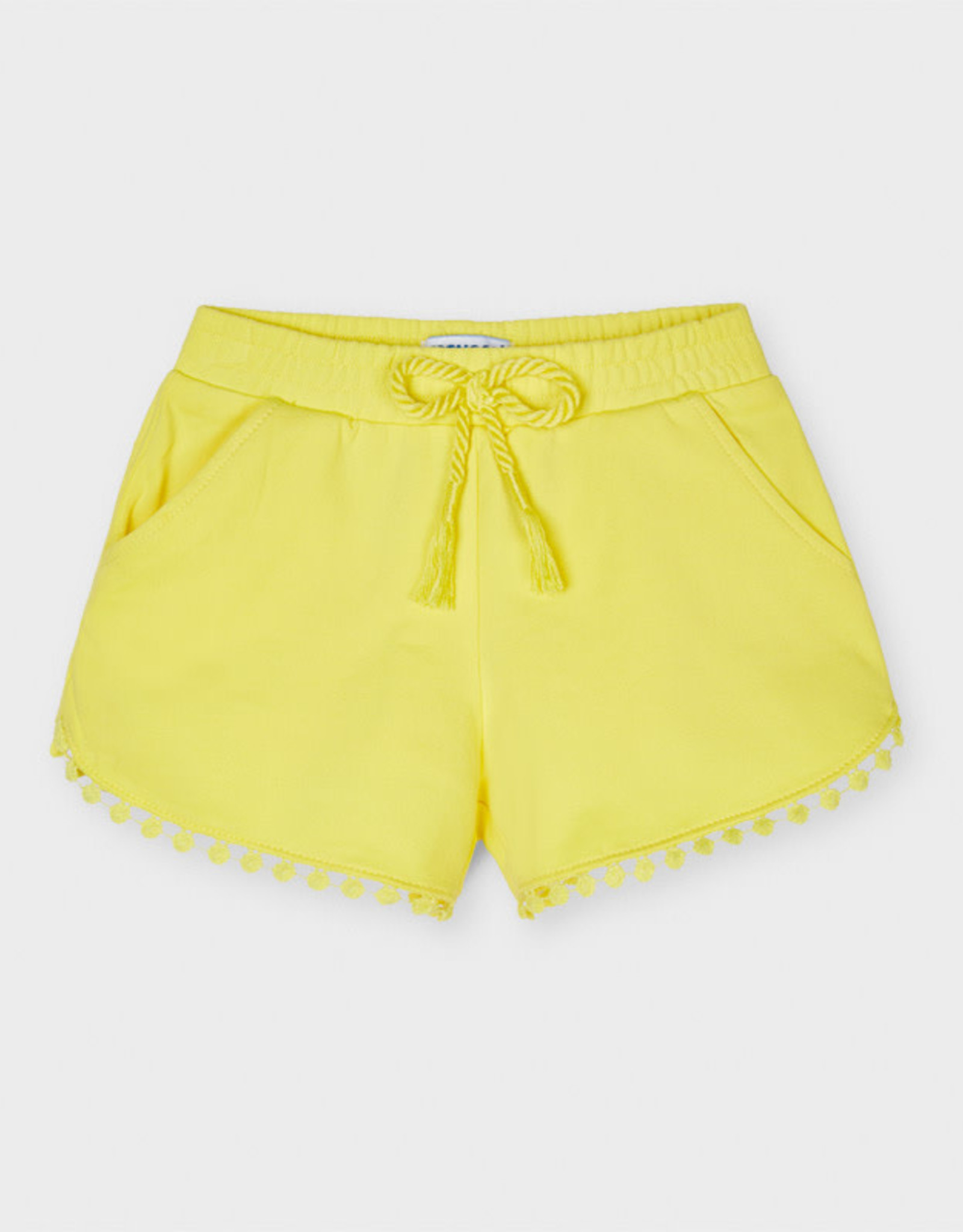Mayoral Short Solid Knit With Chenille Edge Yellow and Navy