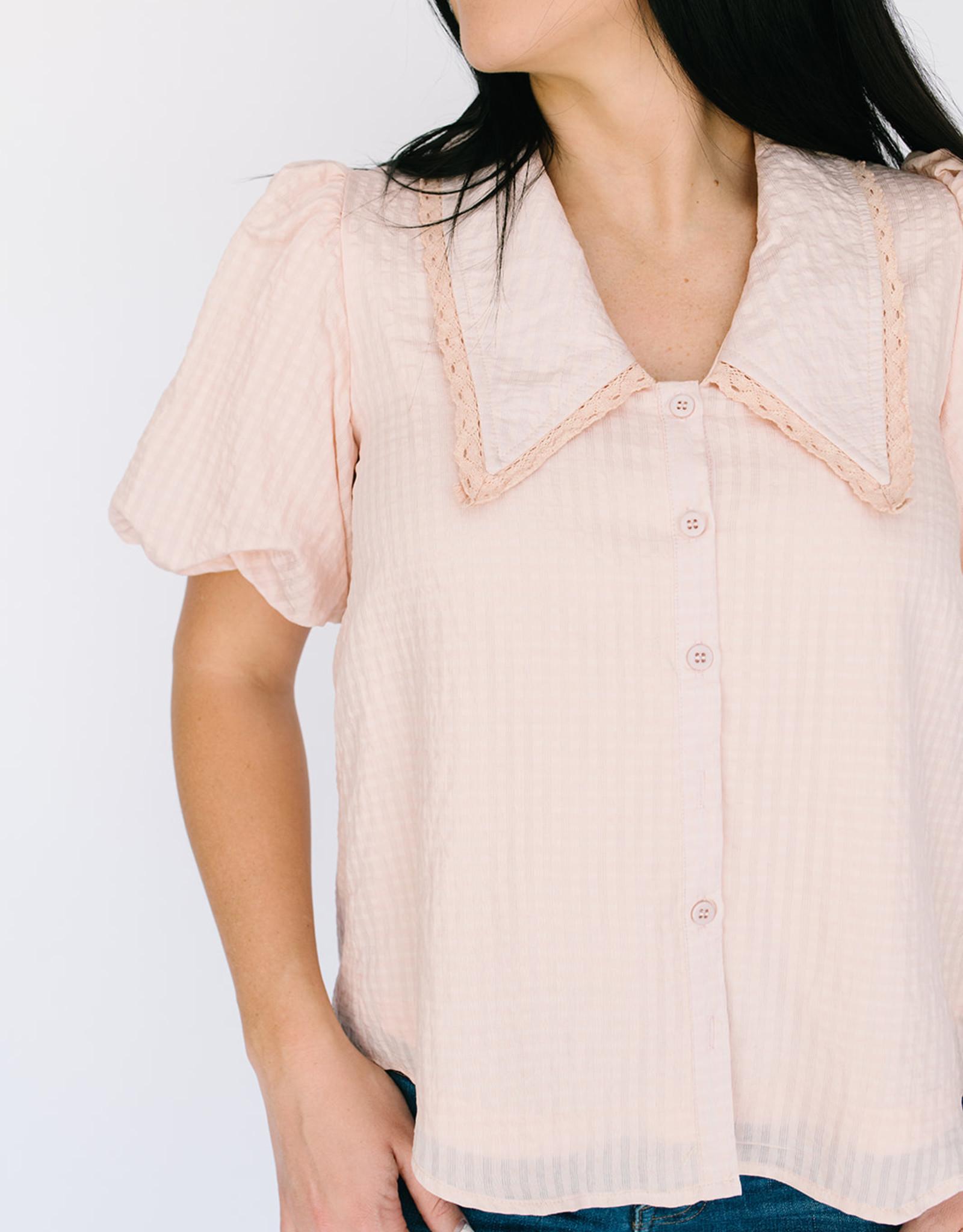 Ipswich Pink Collar Blouse