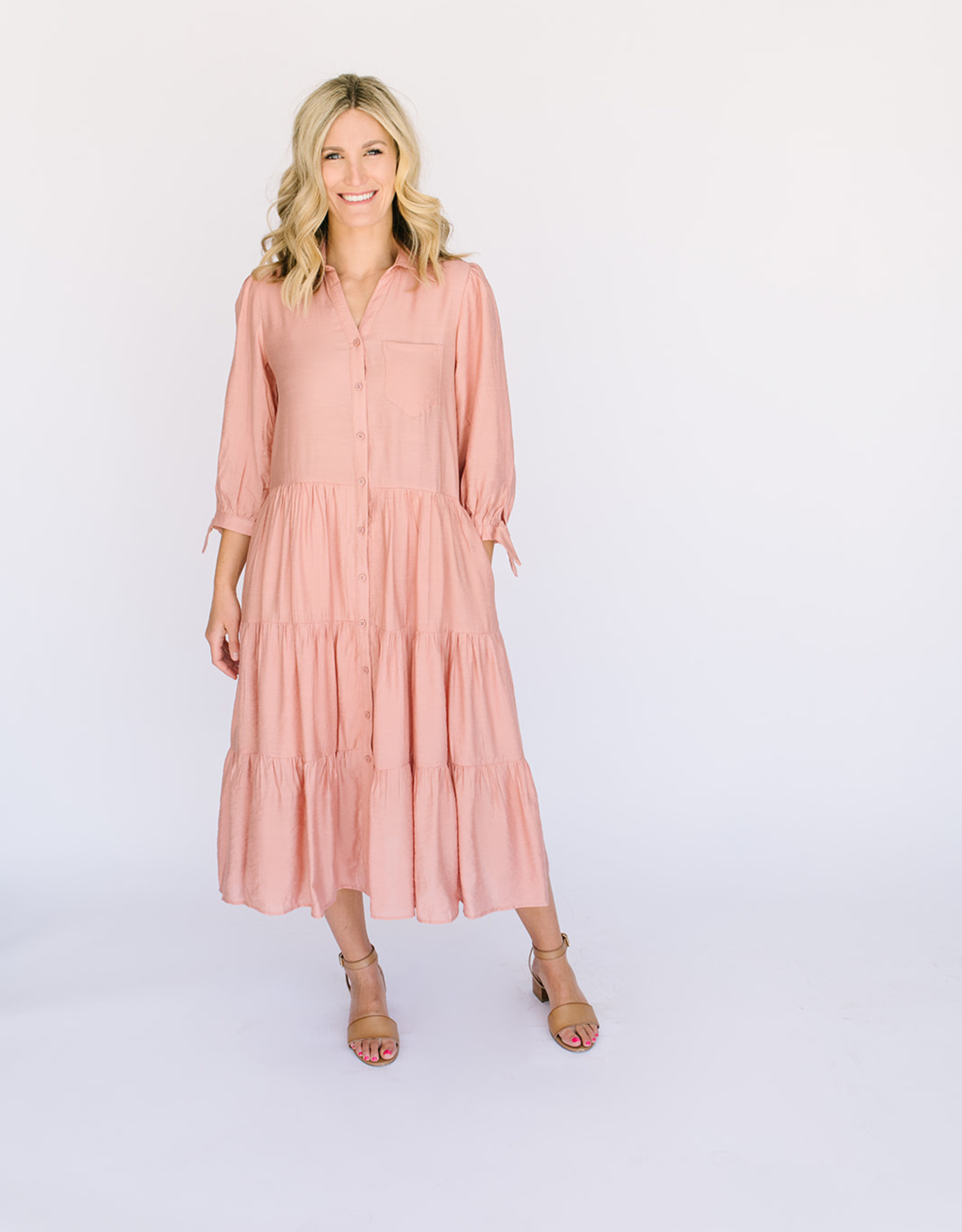 Kettering Midi Salmon Dress