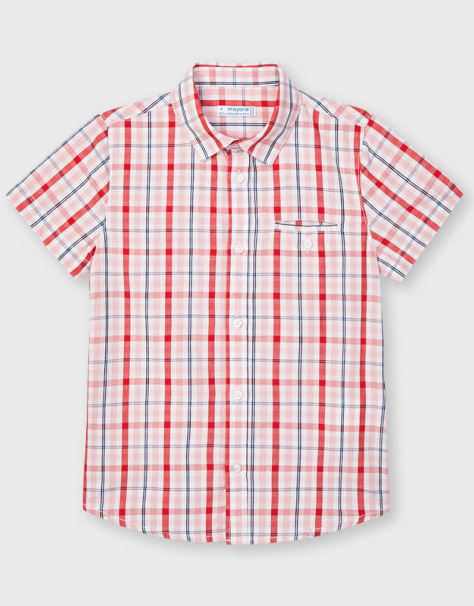 Mayoral Shirt Red Plaid S/S