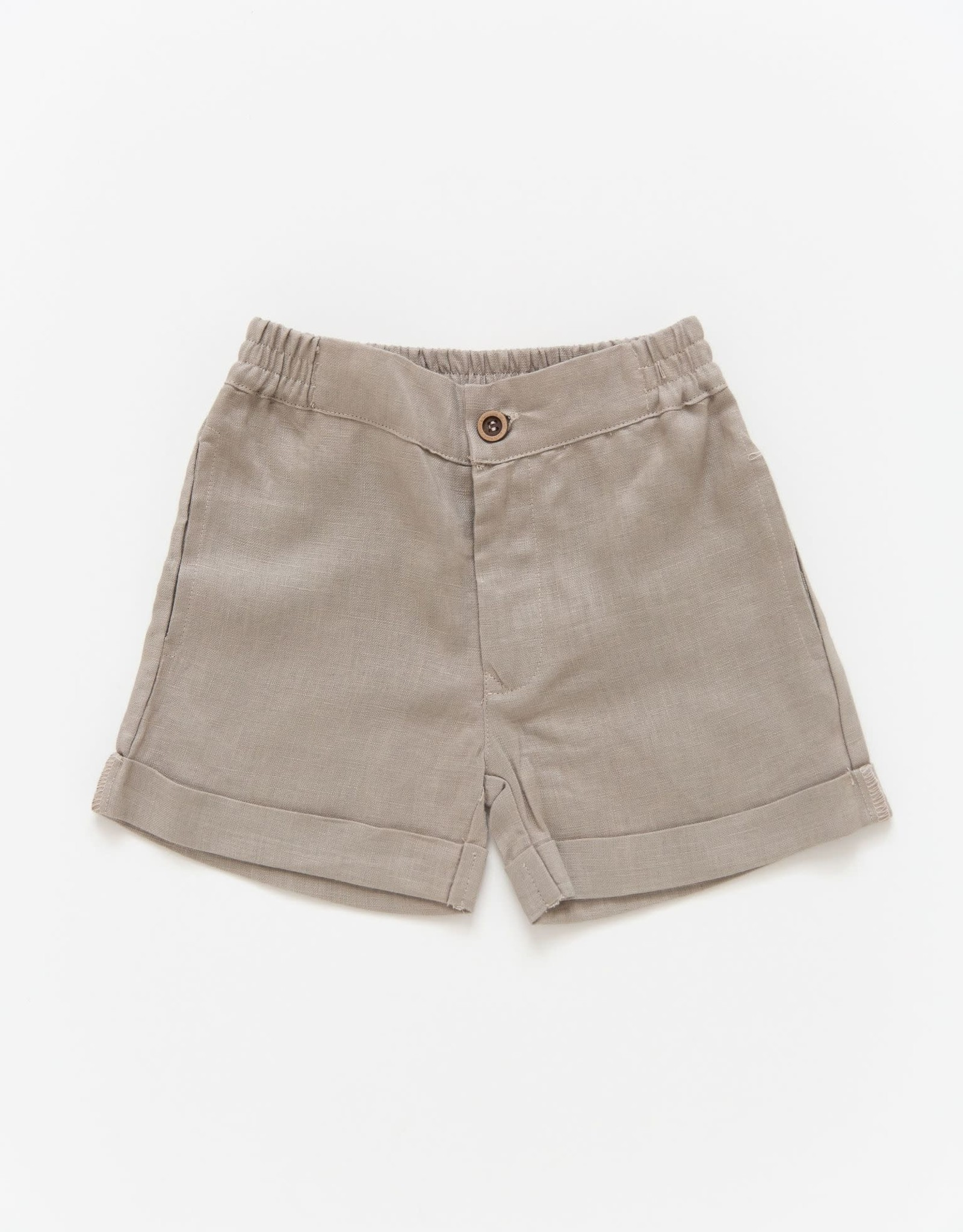 Petite Moss Linen Scottie short