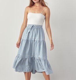 Cardiff Skirt  Tiered Gingham