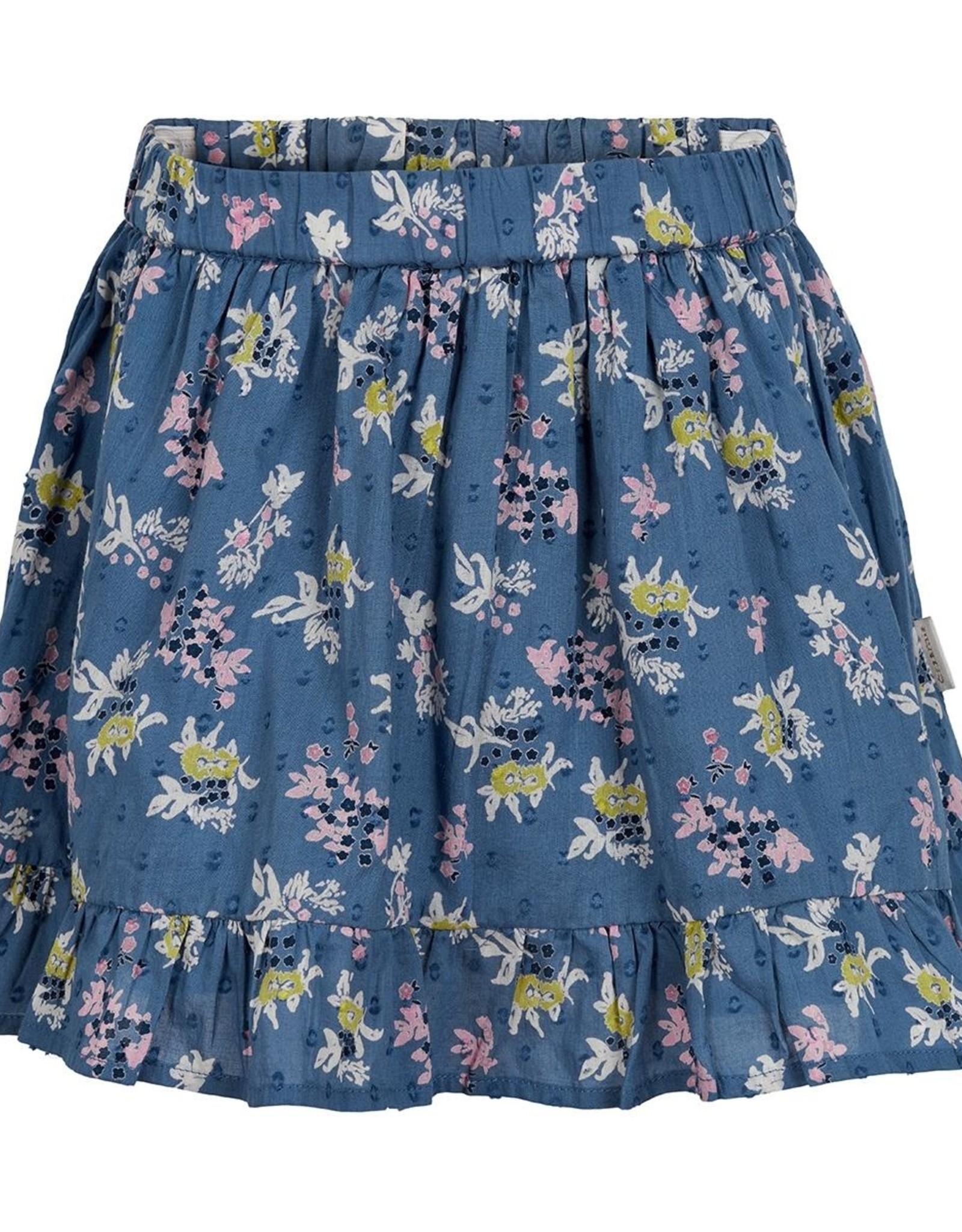 Creamie Skirt Slateblue  Pink Floral