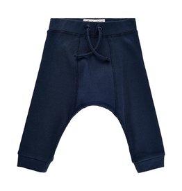 Minymo Navy Rib Knit Track Pant