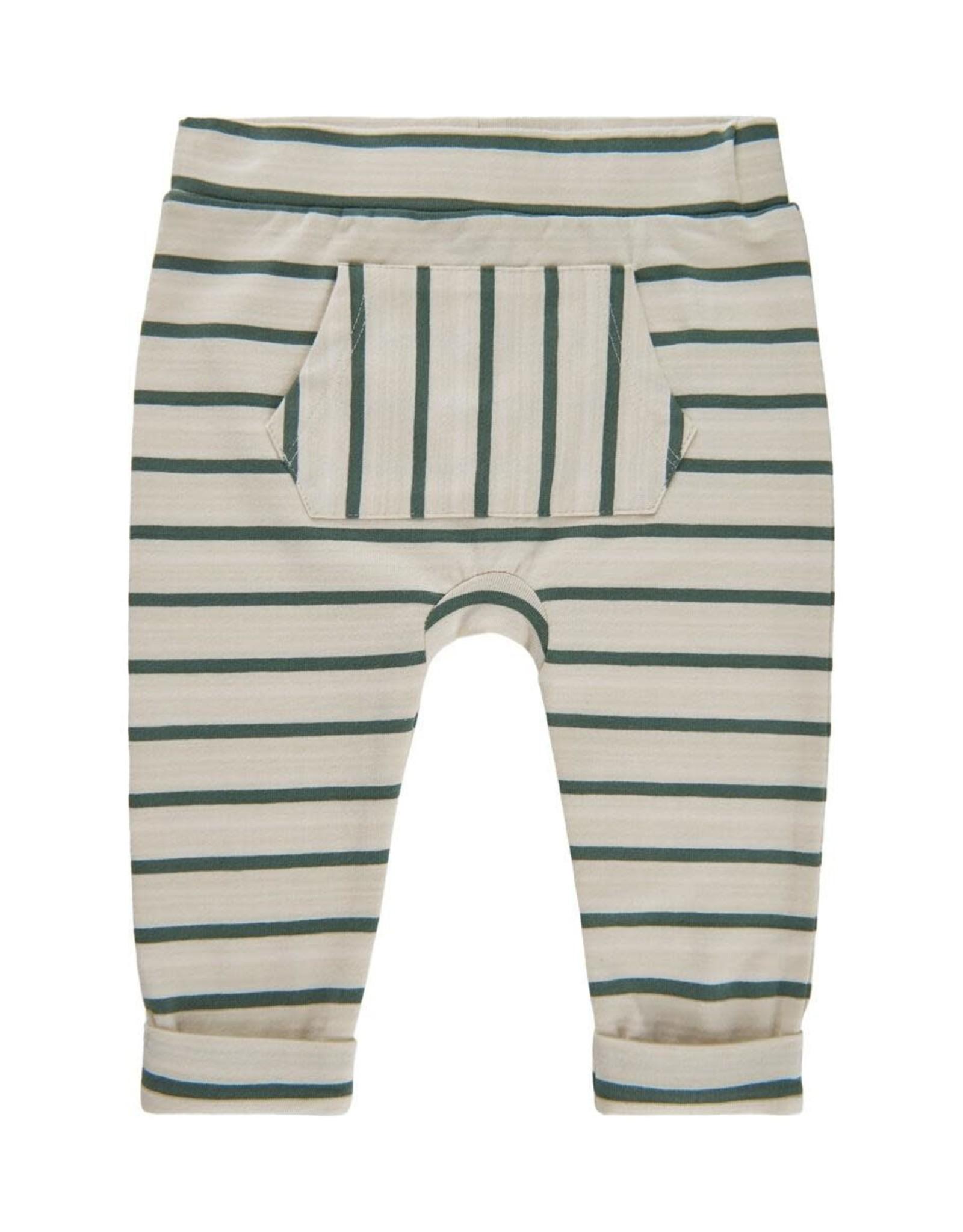 Minymo Olive Stripe Pant