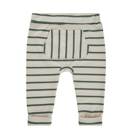 Minymo Olive Stripe pant with pouch pocket