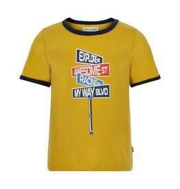 Minymo Yellow Ringer Awesome Tee