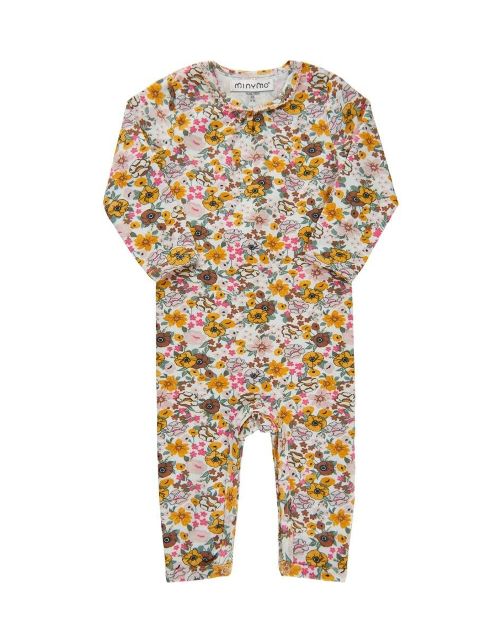 Minymo Floral Long  Bodysuit