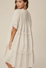 Norwich Dress tucks and ruffles tiered