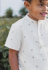 Rylee + Cru Bees gauze Shirt Band Collar