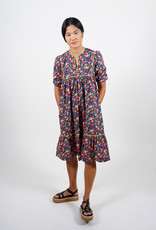 South Hampton Floral Dress piped yoke