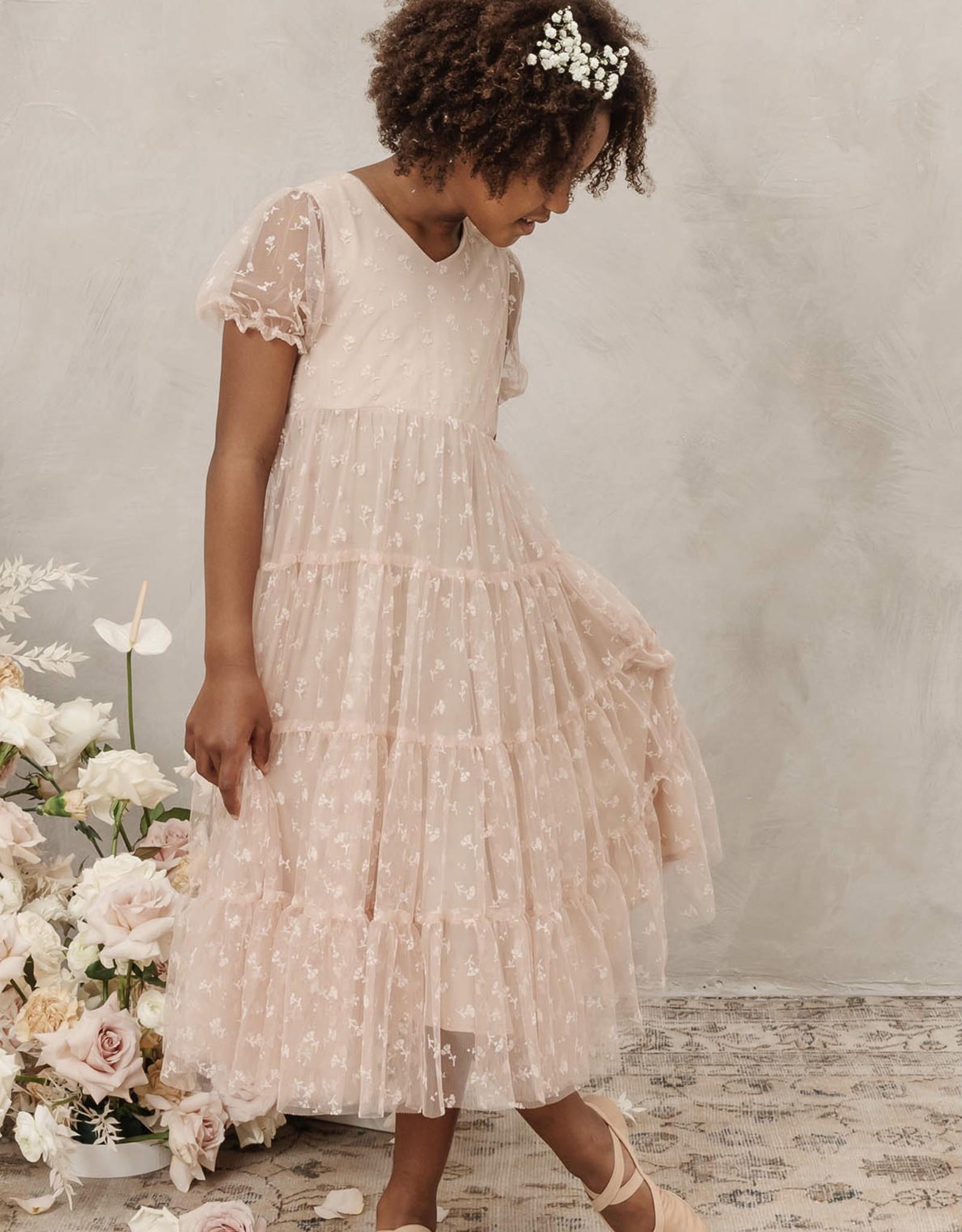 Nora Lee Mauve Tule Dottie Dress