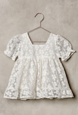 Nora Lee White Embroidered tule Quin Dress