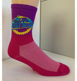 Save Our Soles Big Al's Chainring Sock: Purple n' Pink