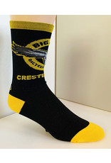 Save Our Soles OG Logo Sock: Black & Yellow