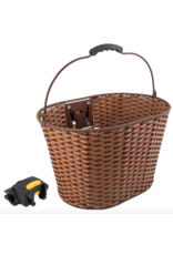 SUNLITE Rattan Front Basket w Q/R: Brown