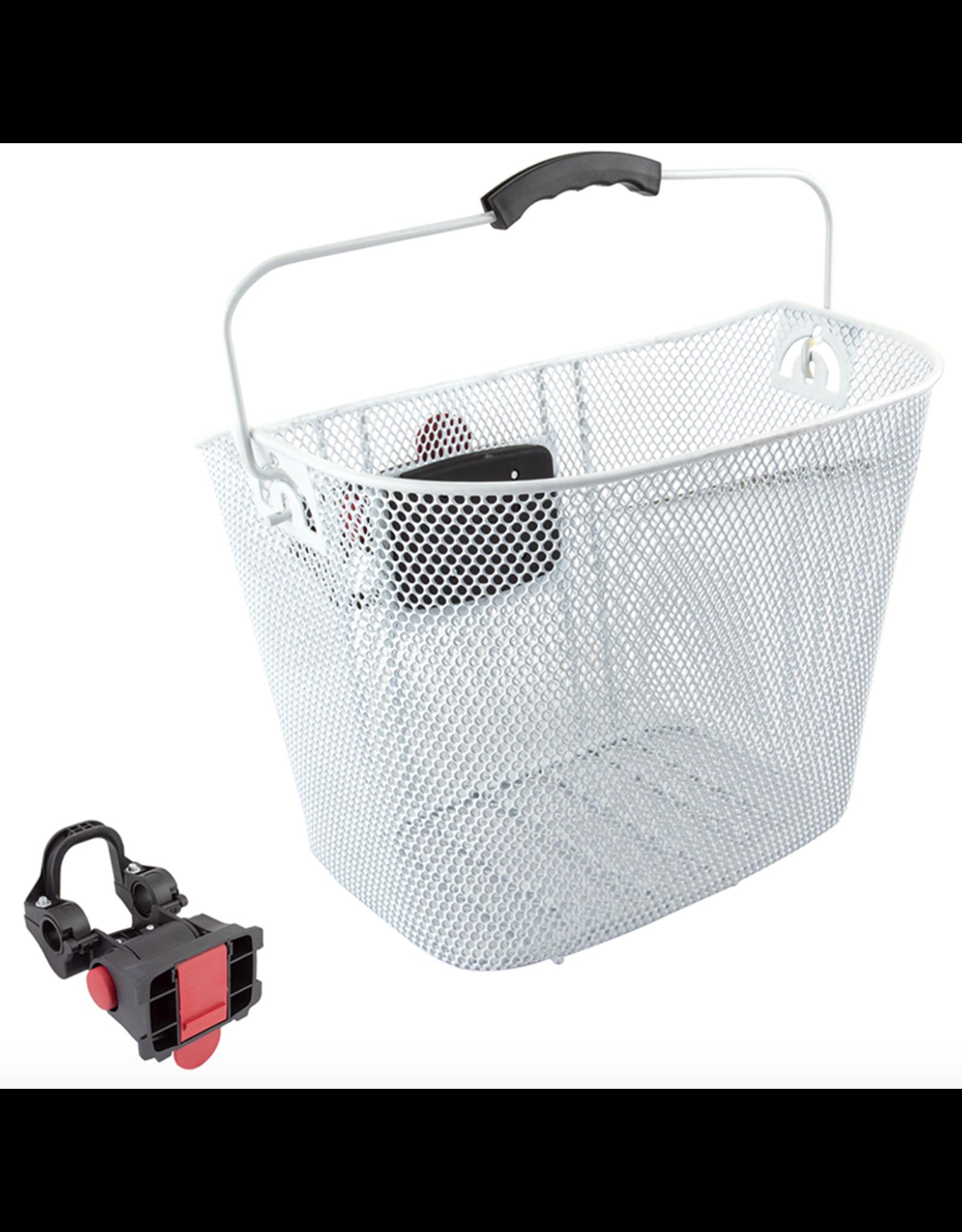 SUNLITE Front Mesh Basket: QR (25.4-31.8): White