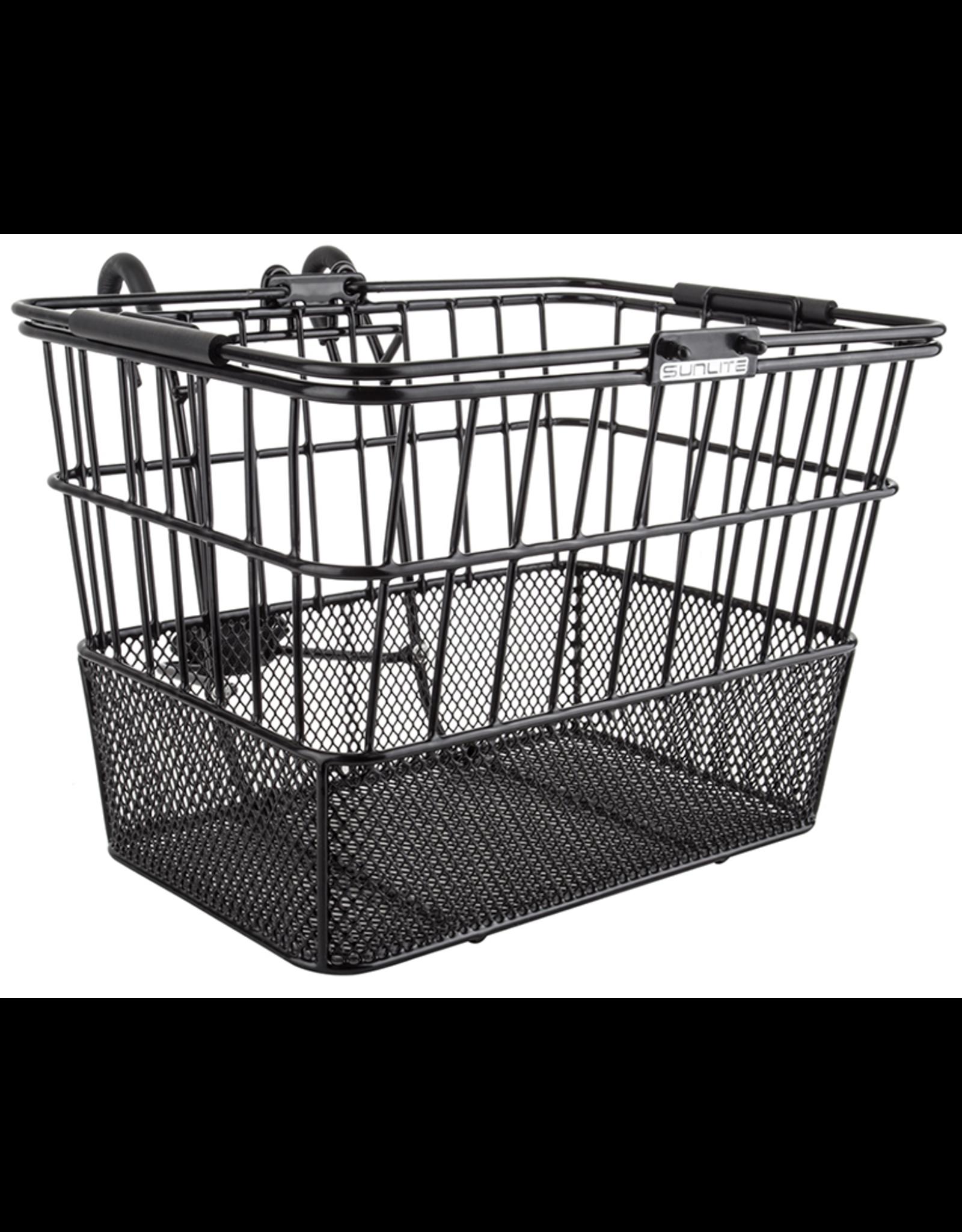 SUNLITE Front Basket: Wire Mesh Lift Off: Black