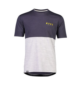 MONS ROYALE Men's Cadence Tee: 9 Iron / Grey Marl
