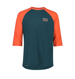 MONS ROYALE Mens Tarn Freeride Raglan 3/4 Altlantic/Orange S