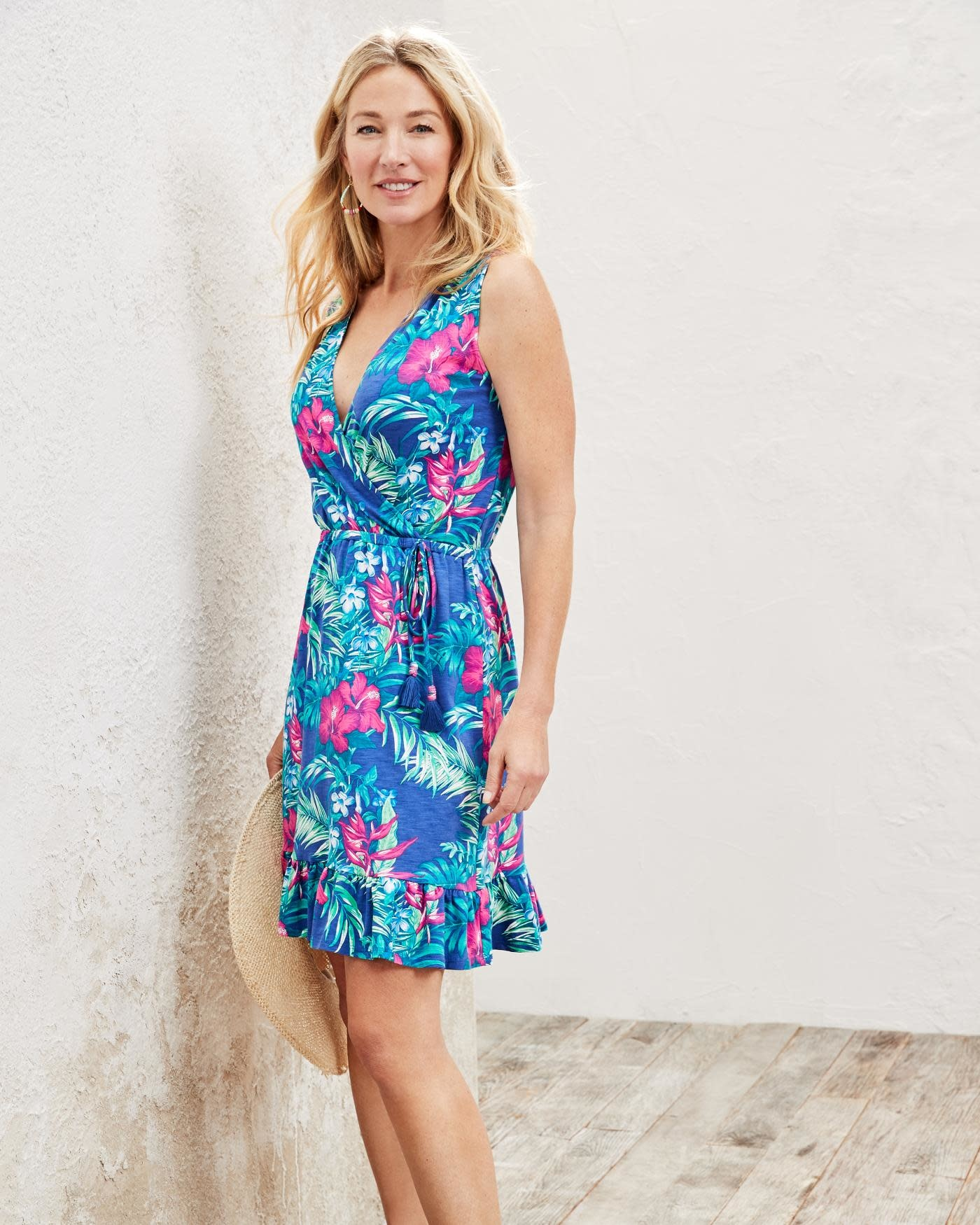 TOMMY BAHAMA Tommy Bahama Hello Hibiscus S/L Dress