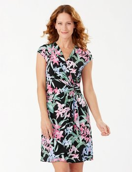 TOMMY BAHAMA Tommy Bahama Orchid Isle Faux Wrap Dress