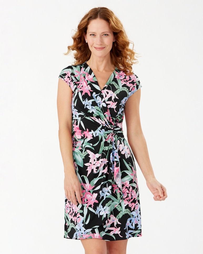 TOMMY BAHAMA Tommy Bahama Orchid Isle Faux Wrap Dress