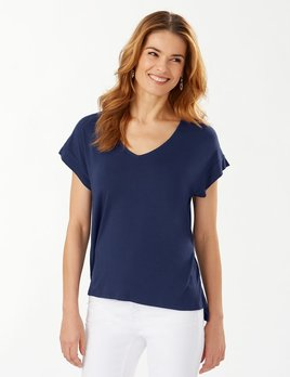 TOMMY BAHAMA Tommy Bahama Sealight V-Neck S/S Top