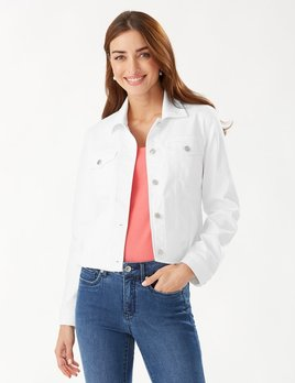 TOMMY BAHAMA Tommy Bahama Ella Twill Jean Jacket MULTIPLE COLORS