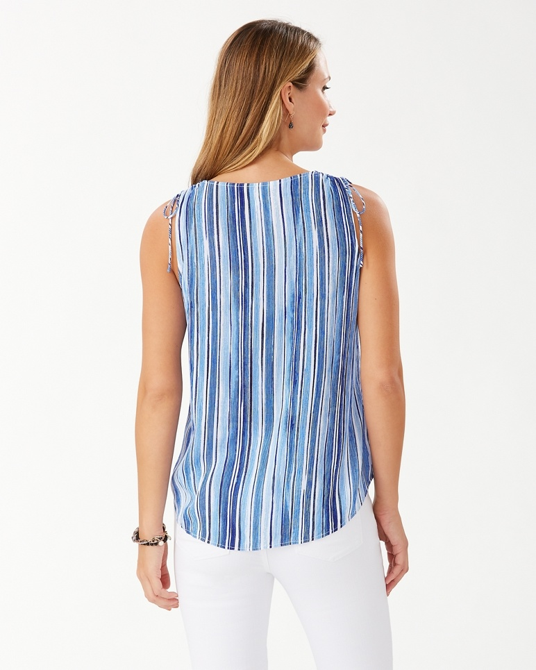 TOMMY BAHAMA Tommy Bahama Divine Lines S/L Top