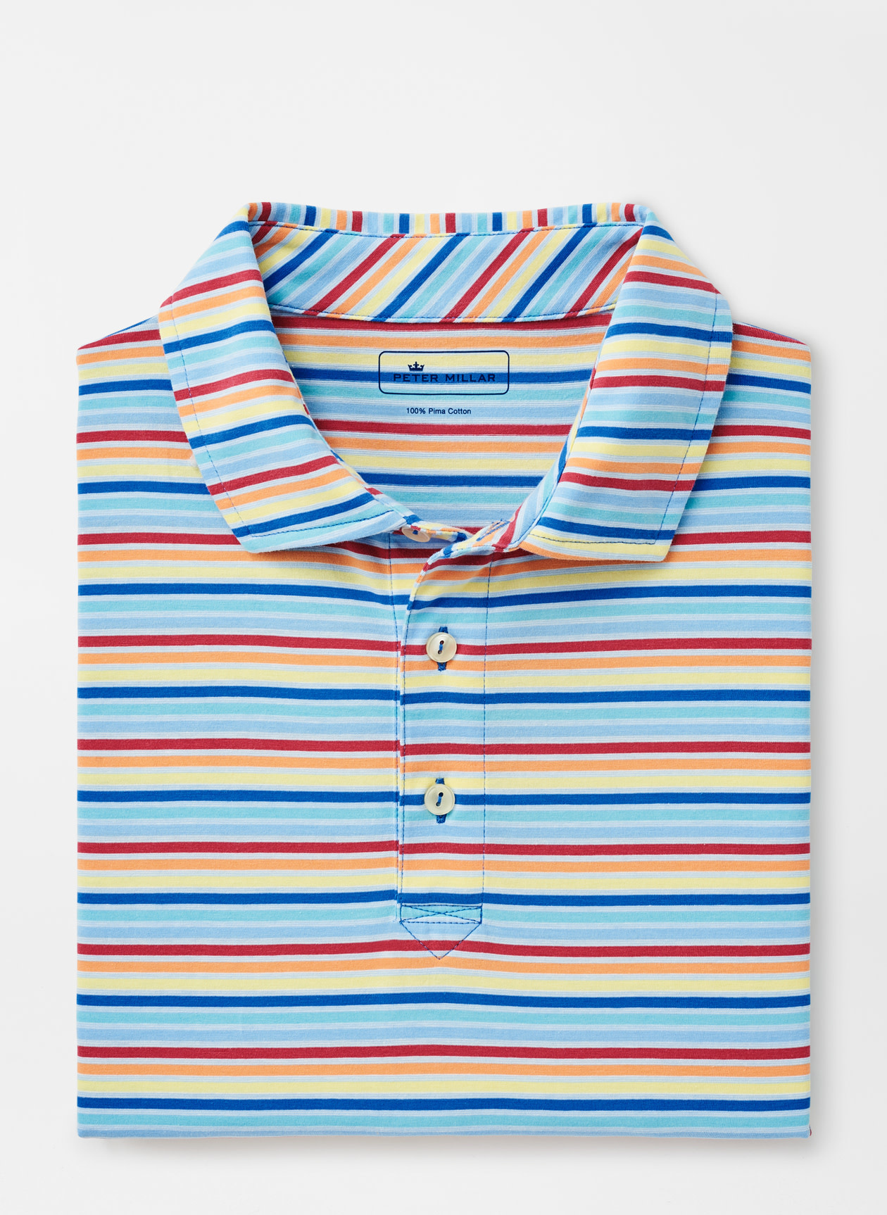 PETER MILLAR Peter Millar Palm Cove Multi Stripe Polo
