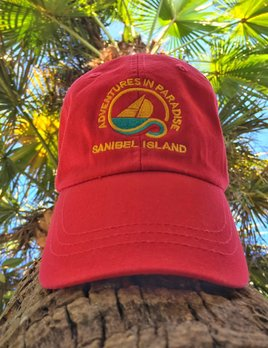 WHISPERING PINES Sanibel Island Hat - Red