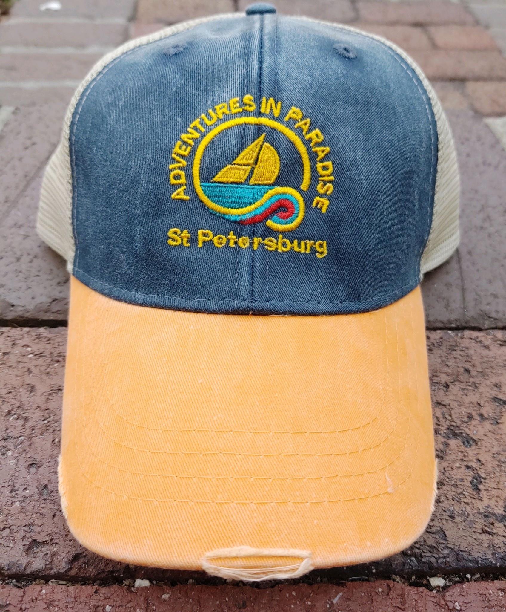 WHISPERING PINES AIP St Petersburg Logo Trucker Hat