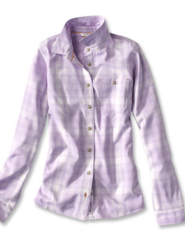 ORVIS Orvis Tech Chambray Plaid Workshirt