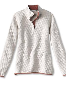 ORVIS Orvis Outdoor Quilted Snap Sweatshirt