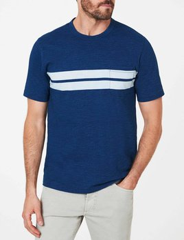 Faherty Faherty Twin Stripe Pocket Tee