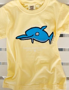 BIG HED DESIGNS Sanibel Kids Tshirt Dolphin Porpoise - Yellow