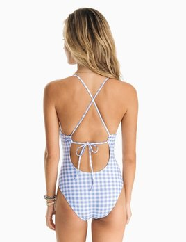 Southern Tide Southern Tide Carmelina Gingham One Piece Swimsuit