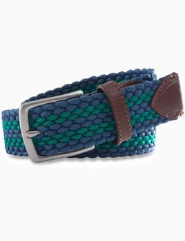Southern Tide Southern Tide Braided Elastic Striped Web Belt