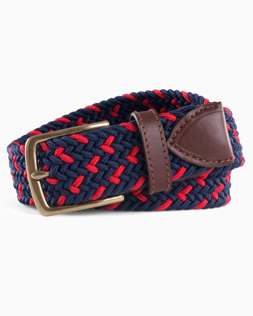 Southern Tide Southern Tide Braided Elastic Specked Web Belt