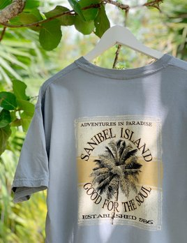 High Range Sanibel Island T-Shirt Good For The Soul - Granite