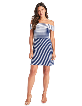 VINEYARD VINES Vineyard Vines Off The Shoulder Mixed Stripe Dress